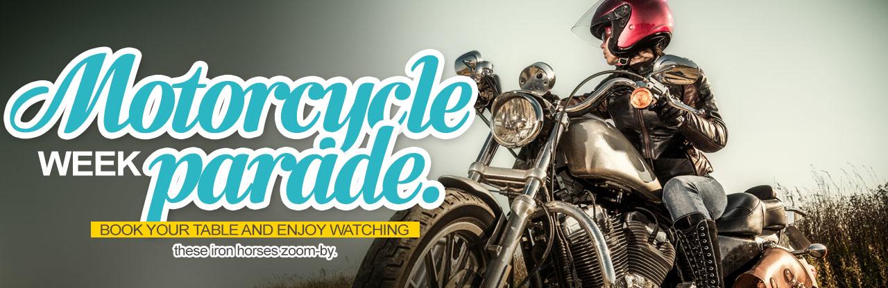Motorcycle week parade package - Mazatlan restaurant